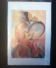Anna Hawthorne Signed Mailing Card PRINT  Indigenous Woman Drum Dancer I 6x9