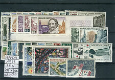 Francia / France 1963 Annata completa 38 valori MNH