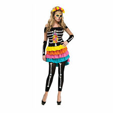 Dia de los Muertos Costume for Adults size S/M (2-8) New by Fun World 124084