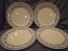 Set of 4 Moulin des Loups Blue Cherries Dinner Plates