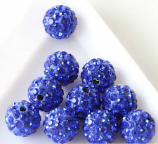 Hot Loose Czech Crystal Rhinestones Pave Clay Round Disco Ball Spacer Beads 8mm