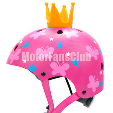 Kids Children Helmet Bike Girls Cartoon Skate Adjustable (Fits: 5-12 Years Old)