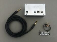PIEZO-ONE HYBRID CONVERSION SYSTEM FOR STRAT BRIDGES Saddle + Preamp + Cable