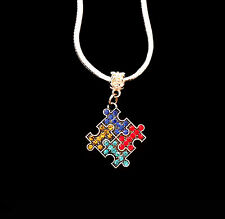 Autism Necklace Autistic necklace puzzle piece  Awareness Best jewelry gift
