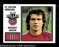 Norbert Janzon Bayern München 1981 Panini SB Sign