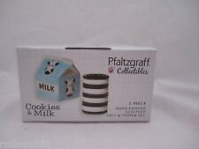 Pfaltzgraff Collectibles Milk & Cookies Salt & Pepper Shakers Hand Painted NEW