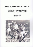 The Football League Match By Match 1969/70 Season - Complete Statistics book
