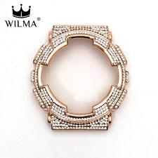 WILMA Rose Gold Bling Metal Bezel x White Crystal G-Shock GA-110 GD-100 C-110-3G