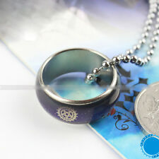 Black Butler Contract Color Changeable Ring Necklace Unisex Chain Anime