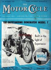 21 Oct 1954 NORTON 'Dominator Model 7' Motor Cycle ADVERT - Magazine Cover Print