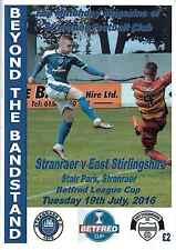 Stranraer v East Stirlingshire 19/07/16 + Team Sheet