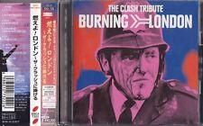 THE CLASH TRIBUTE BURNING LONDON Bonus Track +2 CD Obi Japan RARE ESCA-7322