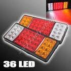 2 FANALI POSTERIORI STOP REVERSE LAMPADA CODA 36 LED PER CAMION RIMORCHIO 12V UK