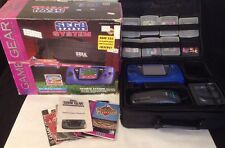 Sega Game Gear In Box Blue Variant RARE Sports Bundle W/ Box - No Battery Covers