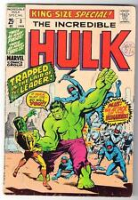 MARVEL Comics HULK VOL 2 Issue 3  VGF  5.0  KING SIZE ANNUAL1970