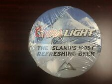 Coors Light Table Coasters 100 per roll.  Hard Tough Paper