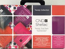 CND SHELLAC TRENDY TRIAL KIT Ltd Ed UV/LED Gel Power Polish Intro Gift Set *NIB