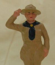 "Scout Master Saluting, 3-1/4"" hand-painted collectible toy figure, Reproduction"