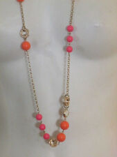 Banana Republic Mad Men Crystal bauble necklace  NWT $39.50 orange pink