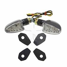 Stalk Carbon LED Turn Signals + Adapter Plate Kit Suzuki DL 650 1000 V-Strom