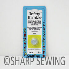 COLLINS SAFETY THIMBLE - SIZE LARGE #C114