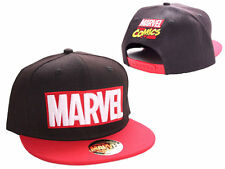 AWESOME MARVEL COMICS LOGO BLACK AND RED SNAPBACK CAP HAT *BRAND NEW*