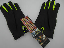 "Paul Smith NEON INSERT LEATHER GLOVES Size M 9-10"" RRP £155 Made in Italy"