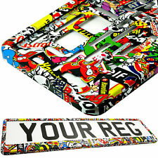 STICKERS TUNING VOITURE Number Plate Surround Support pour toute voiture, camion remorque