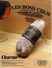 PUBLICITE ADVERTISING 124  1988  CALIXTE  charcuterie saucisson CHARNU