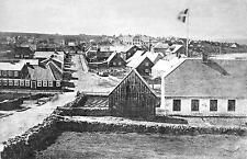 Reykjavik Iceland 1881 Main Street Governors House, 7x5 Inch Reprint Photo nbl