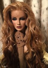 GORGEOUS!! HH BLEND, Ombre Blonde, Red, Brown,Multipart, LONG Lace Front Wig��