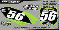 Kawasaki KLX 110 10-15 Pre Printed Number plate Backgrounds BASIC SERIES