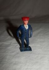 "Vintage Lead Man Blue Suit Red Hat - England - 2"" tall"