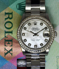 Rolex Datejust Stainless Steel MOP Diamond Dial/Bezel 31mm Ladies Watch 78240