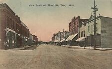 View South on Third Street in Tracy MN Postcard