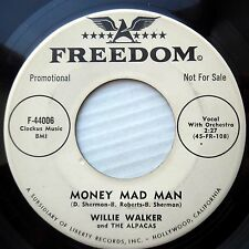 WILLIE WALKER doowop r&b soul promo45 Money Mad Three Hundred and Sixty Five dm9
