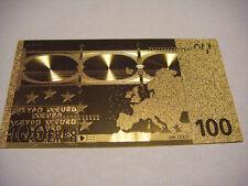 BANCONOTA 100 EURO REPLICA ORO 24K