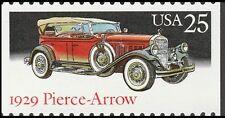 US 2382 Classic Cars 1929 Pierce-Arrow 25c single MNH 1988