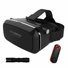 3D VR Glasses, YSSHUI 3D VR Headset with Bluetooth Remote Control Cardboard