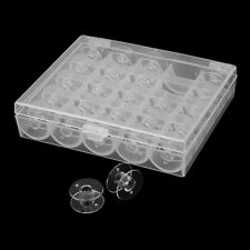 25Pcs Clear Plastic Sewing Machine Spools Bobbins Fit Brother, Janome, Singer