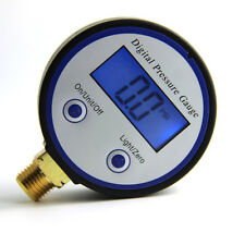 New Digital pressure gauge gas pressure 0-8bar G1/4 brass port Battery-Powered