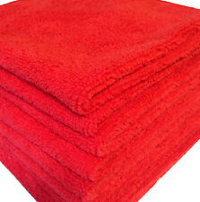 24 RED MICROFIBER TOWELS NEW CLEANING CLOTHS BULK 16X16 MANUFACTURERS SALE