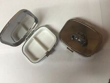 BMW Isetta ref27 Pewter Effect Car on a silver metal pill box