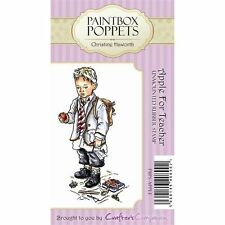 Crafters Companion PAINTBOX POPPETS Unmounted Stamps APPLE FOR TEACHER