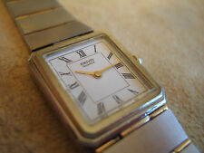 Stunning Rare Women's Seiko 2C20-6220 Santos S/St Gold Pl High End Slim Watch!