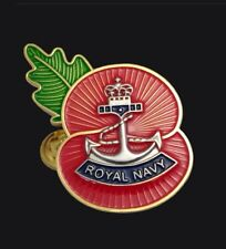 Royal Navy ( RN )  Regimental Poppy Pins