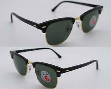 Ray-Ban Authentic Clubmaster RB 3016 901/58 Black Frame / Green Polarized  49mm