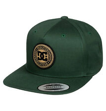 DC Shoes Men's Stapler Snapback Hat Pineneedle Green Caps Headwear Skate Street