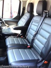 FIAT SCUDO VAN SEAT COVER GREY QUILTED PVC LEATHER MADE TO MEASURE- A120C