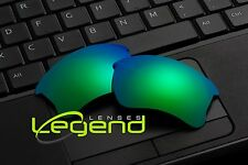A64 Green/Blue POLARIZED Replacement Legend Lenses For Oakley FLAK JACKET XLJ